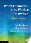 Word Formation in the World s Languages