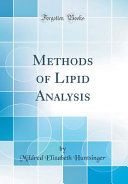 Methods Of Lipid Analysis Classic Reprint  Book PDF