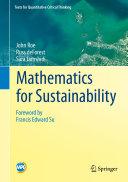 Mathematics for Sustainability