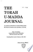 The Torah U-madda Journal