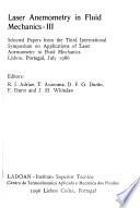 Laser Anemometry in Fluid Mechanics III
