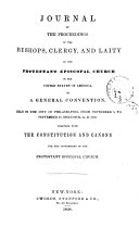 Journal of the proceedings of the bishops, clergy, and laity ...