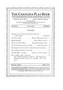 The Carolina Play book of the Carolina Playmakers and the Carolina Dramatic Association