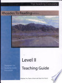 Rhoades to Reading Level II Teaching Guide