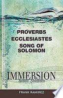 Proverbs  Ecclesiastes  Song of Solomon