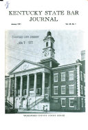 Kentucky State Bar Journal