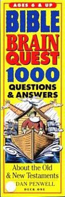 Bible Brain Quest Book PDF