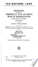 Tax Reform  1969  Hearings