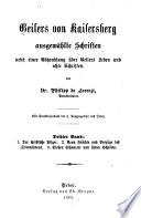 Geilers von Kaisersberg ausgewählte Schriften