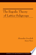 The Ergodic Theory Of Lattice Subgroups Am 172