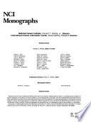 NCI Monographs Book