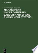 Management Under Differing Labour Market And Employment Systems