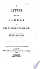 A Letter To The Clergy Of The Church Of Scotland Book PDF
