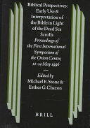 Pdf Biblical Perspectives: Early Use and Interpretation of the Bible in Light of the Dead Sea Scrolls