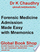 Forensic Medicine Made Easy with Mnemonics