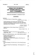 Syracuse Journal of International Law and Commerce
