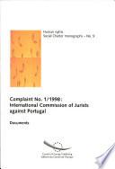Complaint No  1 1998