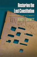 Restoring the Lost Constitution Book