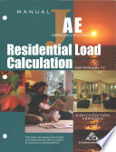 ANSI/ACCA 2 Manual J8AE - 2016 Residential Load Calculation (8th Edition - AE)