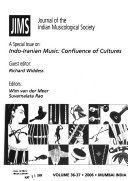 Journal of the Indian Musicological Society Book