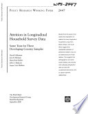 Free Download Attrition in Longitudinal Household Survey Data Book