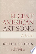 Recent American Art Song
