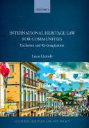 International Heritage Law for Communities [Pdf/ePub] eBook