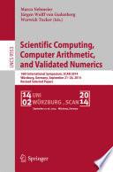 Scientific Computing Computer Arithmetic And Validated Numerics Book PDF
