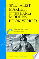 Specialist Markets in the Early Modern Book World