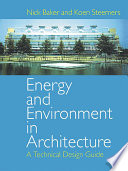 Energy and Environment in Architecture Book