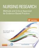 Nursing Research E Book Book PDF