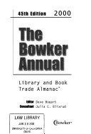 The Bowker Annual 2000 Book