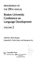 Proceedings of the 29th Annual Boston University Conference on Language Development