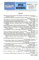 SIAM Journal on Applied Mathematics Book