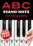 A B C Piano Note Stickers Book