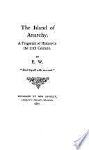 The Island of Anarchy Book