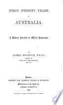 First Twenty Years of Australia