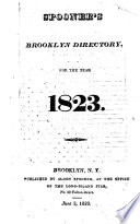 Spooner's Brooklyn Directory, for the Year 1823