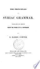 The Principles of Syriac Grammar