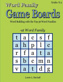 Word Family Game Boards