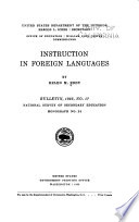Instruction in foreign languages