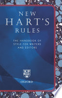 New Hart S Rules The Handbook Of Style For Writers And Editors Book PDF