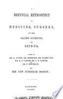 A Biennial Retrospect Of Medicine Surgery And Their Allied Sciences Book PDF