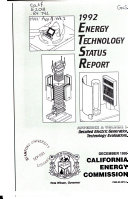 Energy Technology Status Report Book