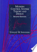 Modern Control System Theory and Design Book