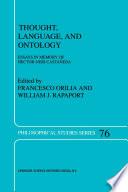 Thought  Language  and Ontology