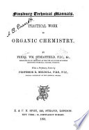 Practical Work in Organic Chemistry