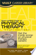 Vault Career Guide to Physical Therapy