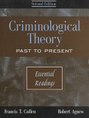 Criminological Theory Book