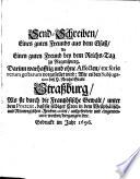 Send-Schreiben eines guten Freunds aus dem Elsaß ..., darinn ... vorgestellet wird: Wie es bey Subjugation deß H. Reichs Stadt Straßburg ... hergangen seye
